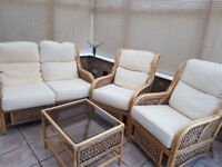 Cane conservatory furniture in good condition