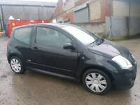2008 CITROEN C2 1.4 VTR 3 DOOR HATCHBACK BLACK