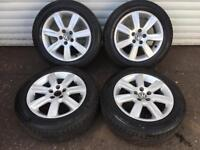 15'' GENUINE VW POLO ALLOY WHEELS TYRES SKODA FABIA SEAT IBIZA 5X100
