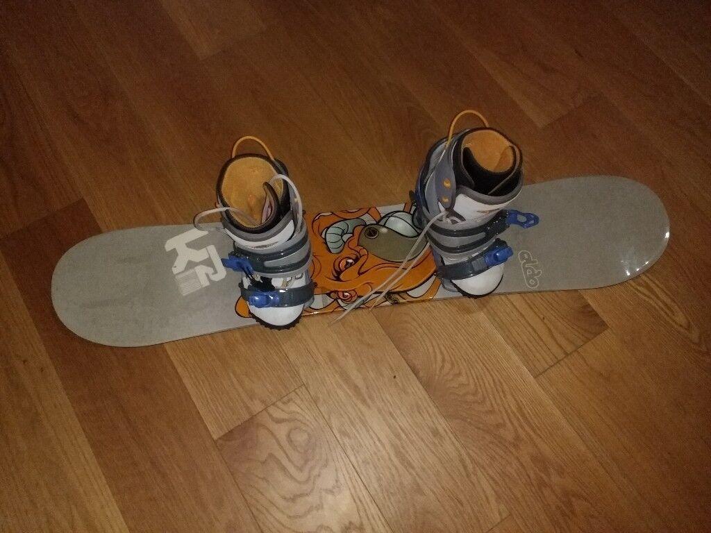 0e17e21b677d K2 Mighty Eldo 120 5cm kids beginners snowboard