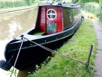 Historic Narrow Boat for sale. Huddlesford.