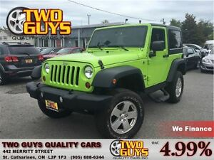 2013 Jeep Wrangler Sport 4WD WICKED COLOUR!! W/REMOVABLE H