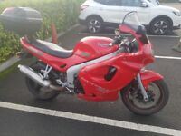 Sprint ST 955, Red, Top Box, upgraded OEM Exhaust, Heated grips, Full history