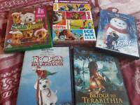 8 kids various dvds inc Disney