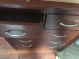 2 matching solid chests of drawers