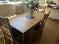 Arighi bianchi chairs with ikea dining table