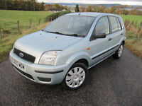 Ford Fusion 2 1.4 16V only 51,000 miles FSH . 11 stamps .Immaculate condition. NOW £1750