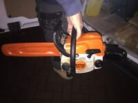 Stihl chain saw ms 180