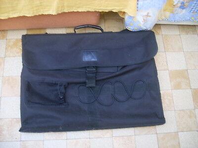 très grande sacoche sac cartable noir pour dessin artiste tableau en bon état