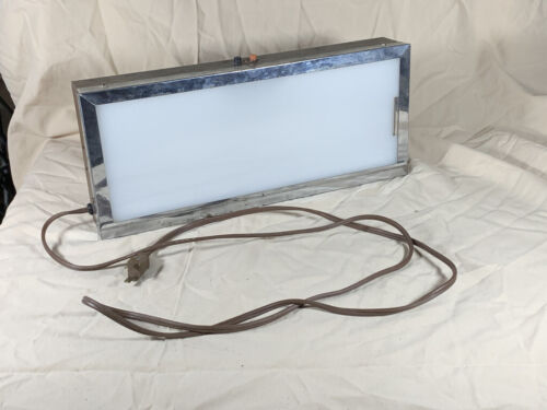 Vintage X-RAY VIEWER Light Box - Faux Wood & Stainless Case