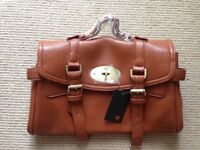 Brand New Brown Leather satchel bag