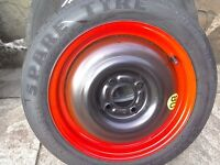 Unused spare wheel from a ford focus