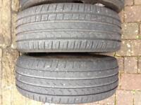 """17"""" alloy wheels 4 good tyres"""