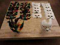 Dance/Costume Feather Masks 22 in Total