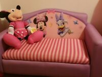 Minnie mouse storage sofa and bookcase