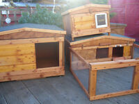 "rabbit hutch 48"" wide robust germ free worth viewing"