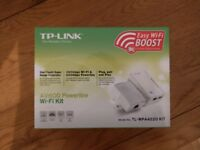 TP-Link, 2-Port Powerline Adapter WiFi, Range Extender, WiFi Extender, WiFi Booster/Hotspot