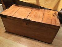 Large pine vintage trunk