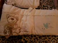 I Love my Bear and Friends Cot Set