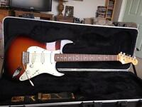 Fender Stratocaster, American Standard. ( Upgraded with Lindy Fralin Blues Special Pickups)