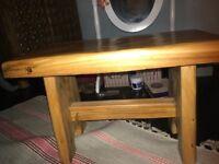 Handmade pine stool
