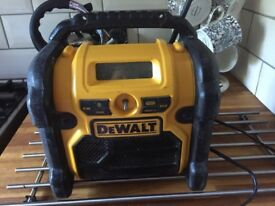 Dewalt on site radio