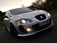 BEAUTIFUL SEAT LEON CUPRA 2.0 TFSI K1 STAGE 1 300 BHP GOOD SPEC FULL MOT & HISTORY HPI CLEAR SILVER!
