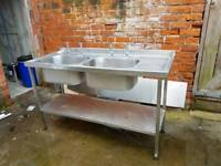 commercial double kitchen sink