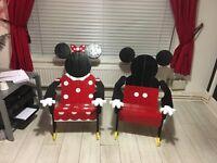 Micky and Minnie adirondack chairs