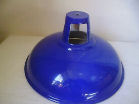 BLUE INDUSTRIAL STYLE LAMP SHADE