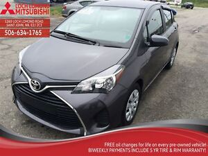 2015 Toyota Yaris LE,CRUISE ,A/C, GREAT ON FUEL, ONLY 10,000KM.
