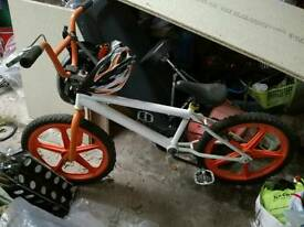 Custom White and Orange BMX