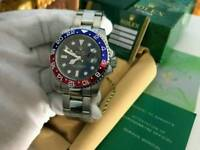 Rolex GMT Master 2 Pepsi Style Stainless Steel