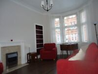 One bedroomed, first floor, furnished flat to rent in Thornwood / Partick.