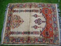 Small Keschan prayer rug