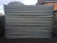 50 X Used Temporary Heras Fence Panels ~ Site Security