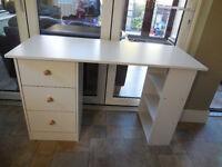 White Malibu Desk