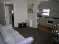 No deposit, I bedroom self contained furnished flat, 2nd floor, heating, double glazed, garden