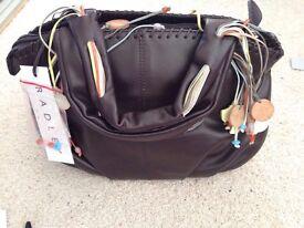 Radley Leather Grab Bag Brown