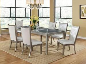 Silver Dining Set with 6 Chairs (KA225)