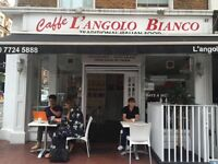 Family run Busy Italian cafe and delicatessen looking for Italian speaking barista