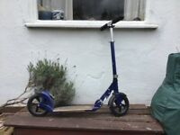 Micro-Scooter, Adult, blue, deluxe model, hardly used.