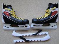 CCM 52 Black Ice Skates, Ice Hockey Shoes, Size 7.5