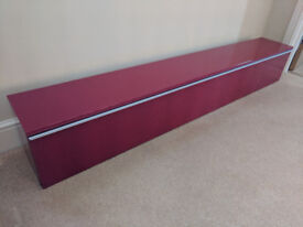 IKEA Besta Burs Red Wall Cabinet Suitable for DVD/CD etc. Excellent Condition