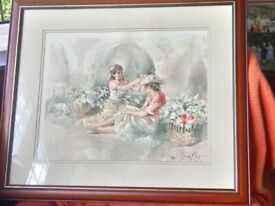 2 glass framed Gordon King signed prints