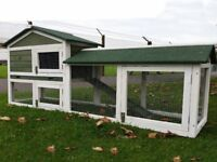 Extra large rabbit hutch and cover