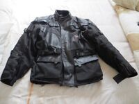 Adult Leather Motorcyclist Jacket by Buffalo Black Large Size