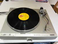 RARE VINTAGE KENWOOD KD3100 Direct Drive Turntable With New Stanton gold Cartridge