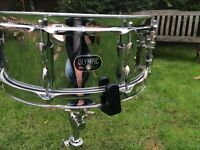 Drums - Vintage Premier Olympic Snare Drum - 60's - Chrome Over Brass - Outstanding - Very Rare