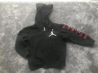 Jordan air black boys zip up hoodie age 3-4